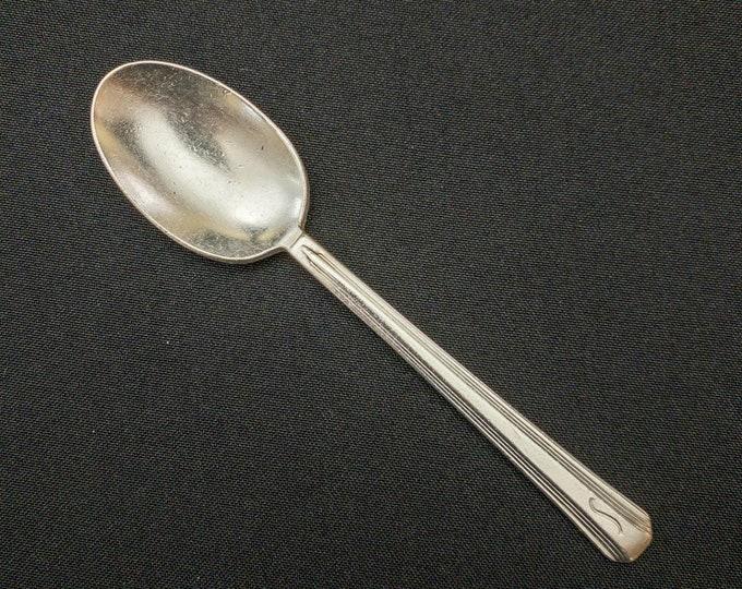 "Shamrock Hotel Houston Texas 6"" Silverplate Spoon Restaurant Ware By International Silver Co"