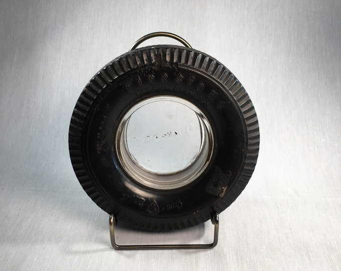 Firestone Miniature Tire Advertising Ashtray Deluxe Champion Gum Dipped