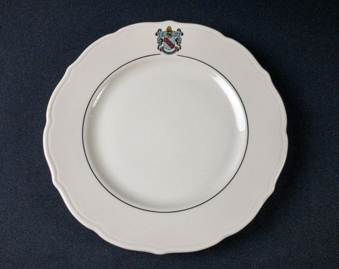 """Rice University Baker College Houston 9-5/8"""" Dinner Plate Restaurant Ware By Syracuse China"""