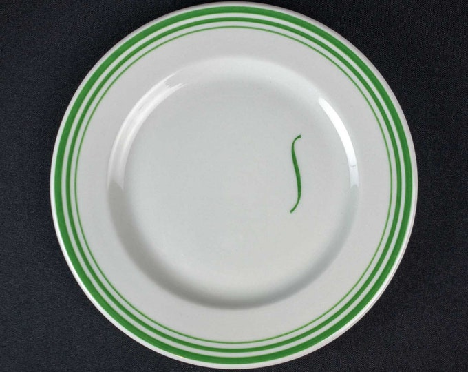 Shamrock Hotel Houston 8-1/4 Inch Side Salad Plate Pine Room Pattern Restaurant Ware By Shenango