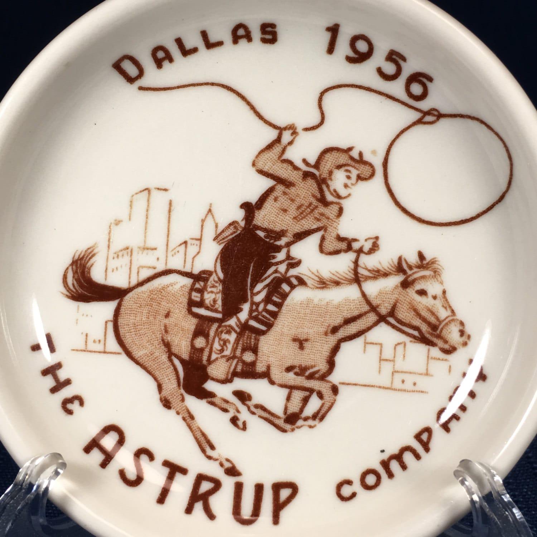 The Astrup Company Dallas 1956 Cowboy Horse Lasso ...