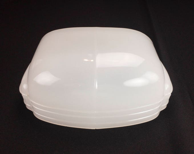Kitchen or Bath Art Deco Design Streamline Shape Translucent Slip Shade Only for Wall Sconce without Bracket Circa 1930s-40s