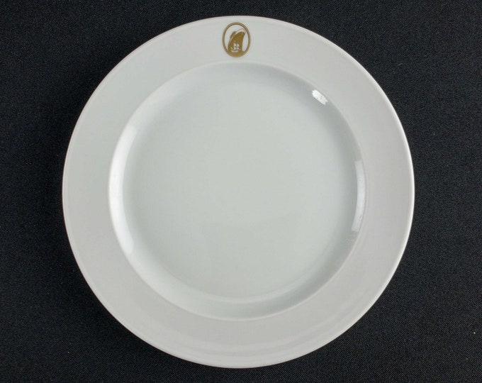 "1960-70s Holland America Line Gold Emblem HAL Dinnerware 7 1/2"" Restaurant Ware Variations By Rosenthal China Germany Tapio Wirkkala Design"