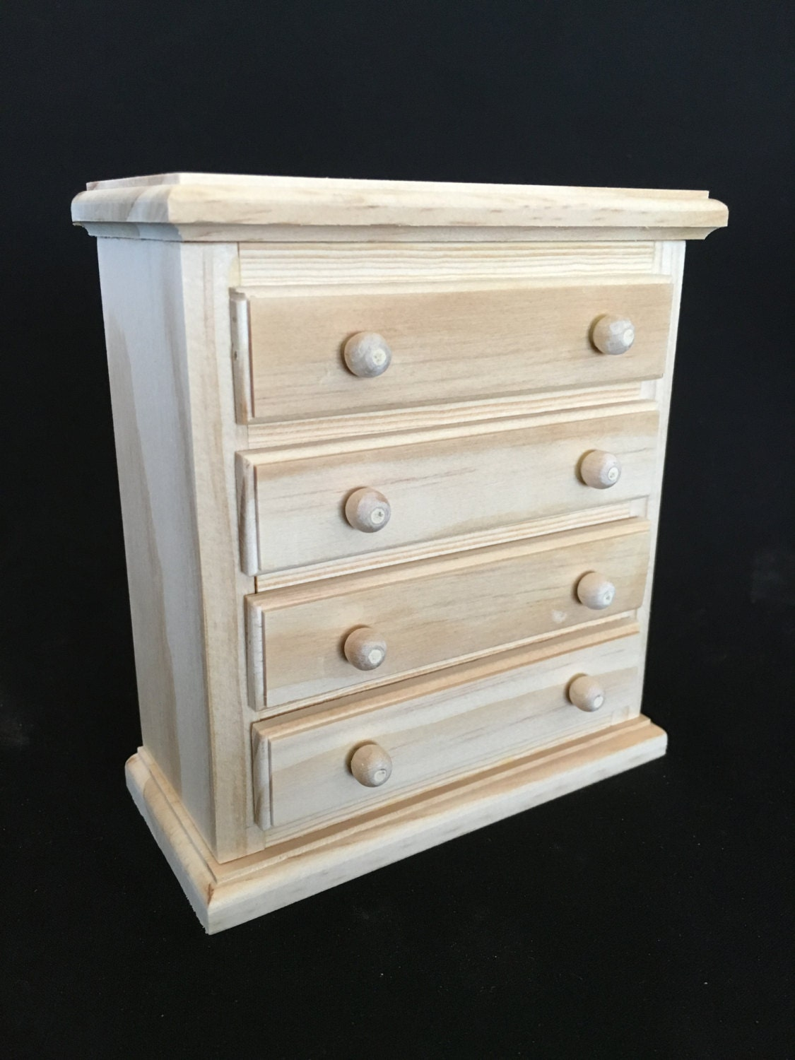4 Drawer Chest For American Girl Mini Doll And Other 6 5
