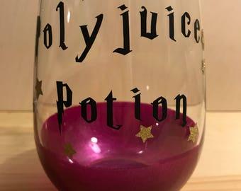 Harry Potter Inspired Polyjuice Potion Stemless Wine Glass