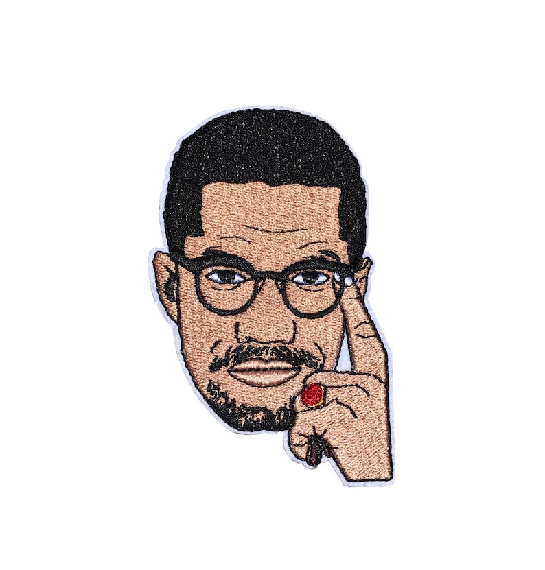 Malcolm X  Embroidered Iron-On Patch image 0