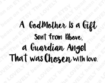 Godmother Quote Etsy
