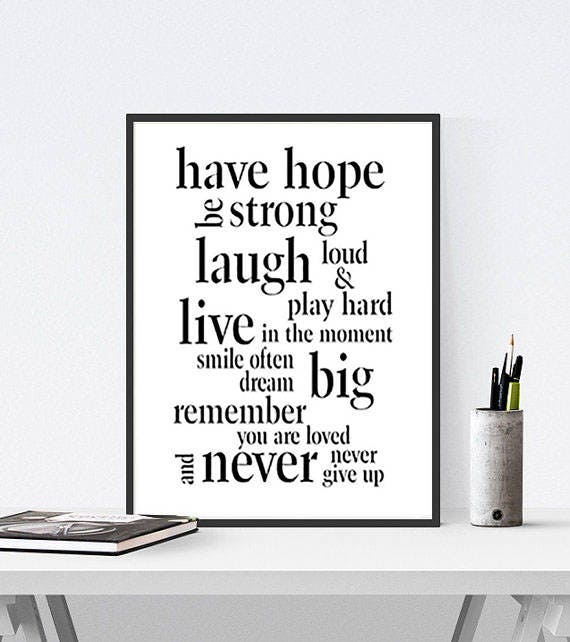 Love Print Quote Live Love Laugh Laughter Quote Print Dream Etsy