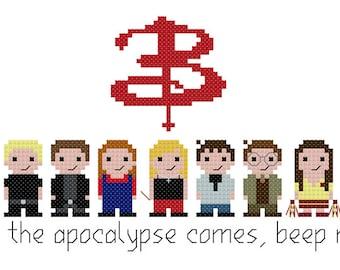 Buffy the Vampire Slayer PDF Cross Stitch Pattern - Instant Download