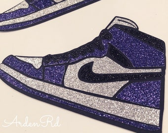 the latest 4d27b 8d0a7 Air Jordan Sparkle Cupcake Cake Topper Tag. Any Color Combo Available!