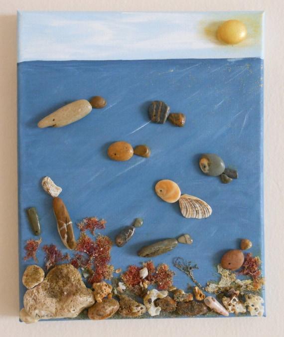 Fondali Marini Scatola Di Conchiglie Pietre Alghe E Sabbia Etsy