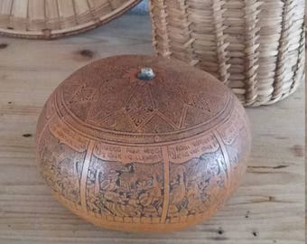South American gourd / ethnic decoration