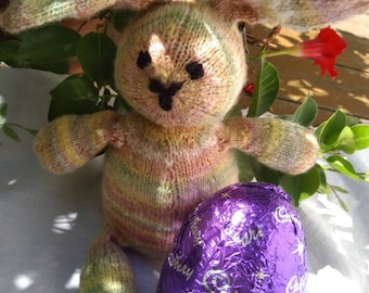 Pink Merino Easter Bunny