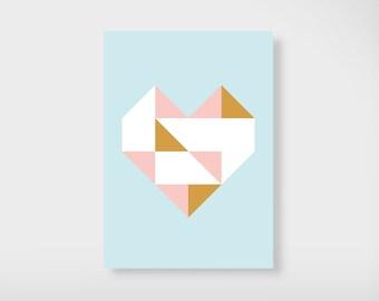 """Postcard """"Golden Gold"""""""