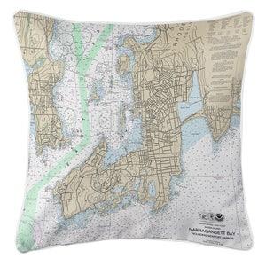Nj Brigantine Nj Nautical Chart Pillow Made To Order Etsy