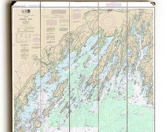 ME: Casco Bay, ME Nautical Chart Sign