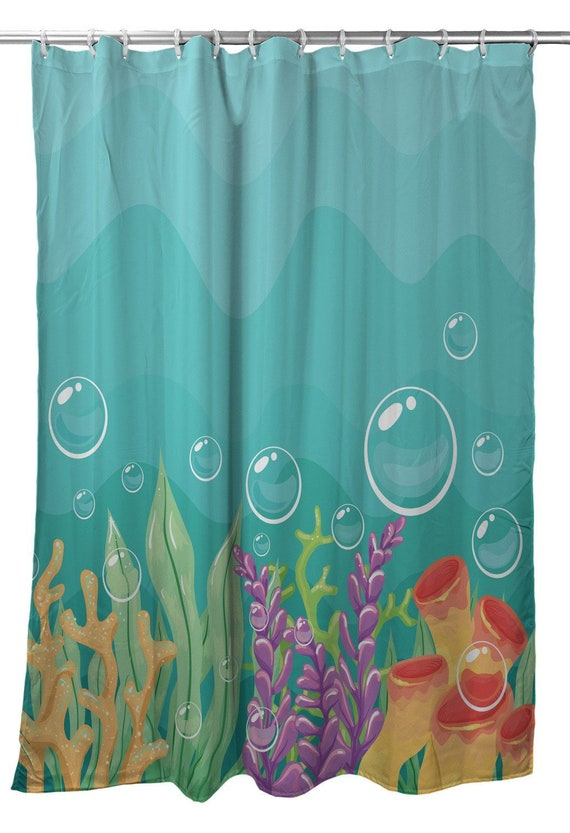 Sea Bed Shower Curtain Coastal Kids