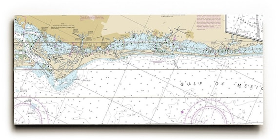 Fl Siesta Key Casey Key Fl Nautical Chart Sign Siesta Key Etsy