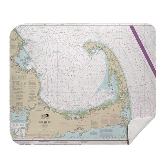 Cape Cod Map Fleece Blanket  Cape Cod Map Blanket  Cape Cod Blanket  Wanderlust Blanket  Cape Cod Map