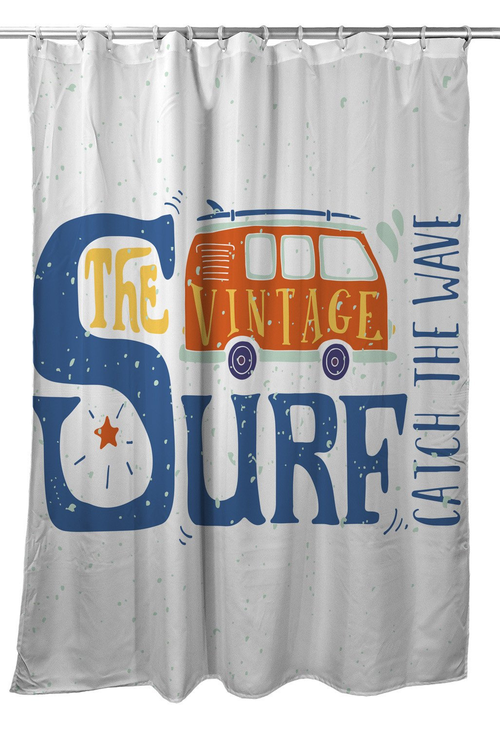 Vintage Surf Van Shower Curtain Surfing Beach