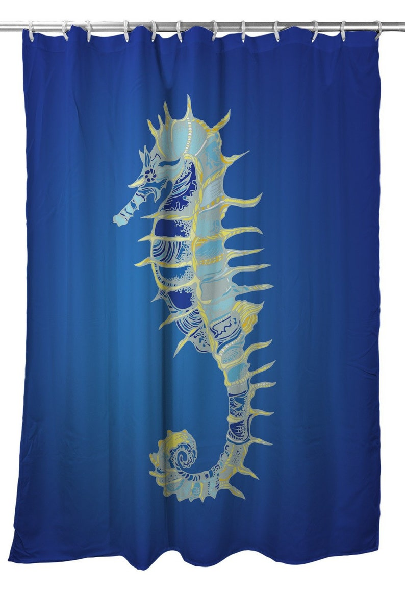 Majestic Seahorse Shower Curtain Coastal