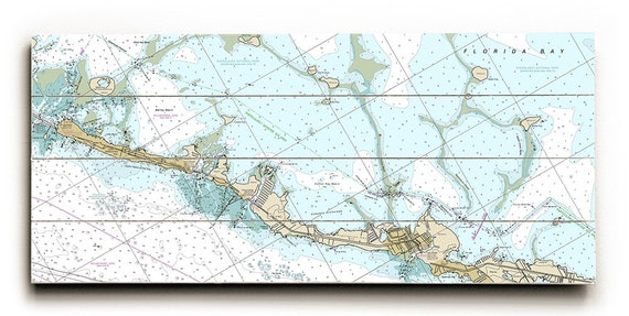 Fl Islamorada Fl Nautical Chart Sign Islamorada Map Sign Etsy