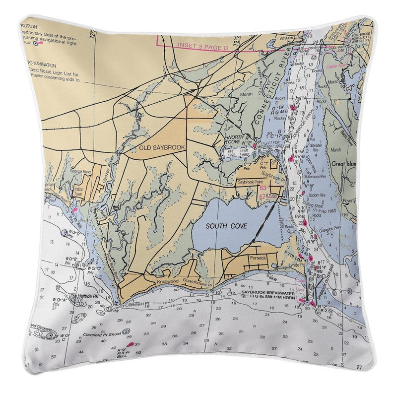 CT: Old Saybrook, CT Nautical Chart Pillow, Nautical Pillow, Map Pillow, Saybrook Ct Usa Map on ashton ct map, westbrook ct map, essex ct map, riverside ct map, waterford ct map, salem ct map, hebron ct map, crystal lake ct map, windsor ct map, clinton ct map, sterling ct map, wilmington ct map, brookfield ct map, stamford ct map, weston ct map, milford ct map, darien ct map, freeport ct map, woodstock ct map, sheffield ct map,