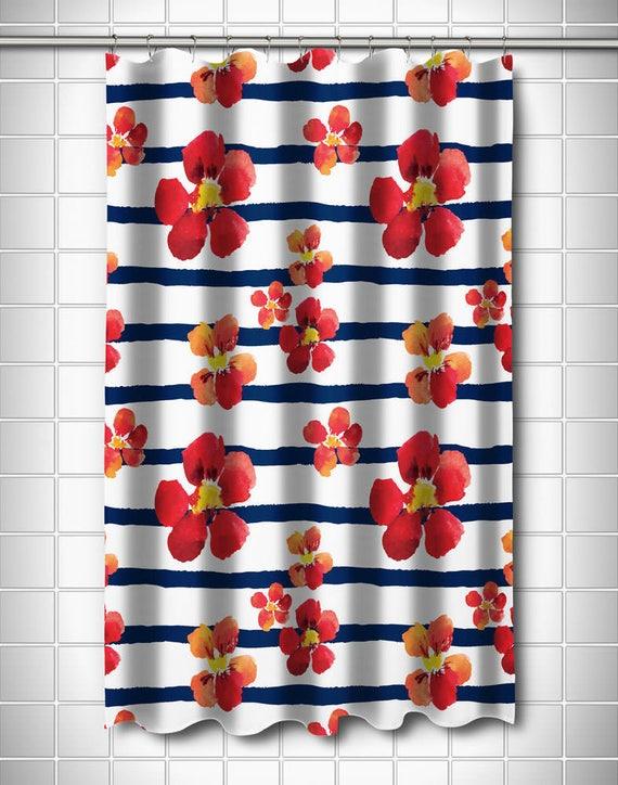 Nasturtiums Shower Curtain Red Flower