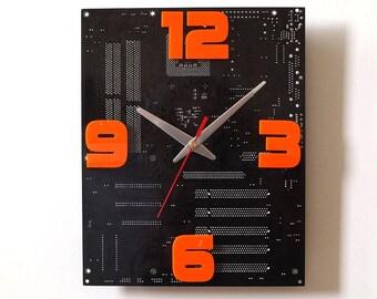 circuit board clock etsy rh etsy com