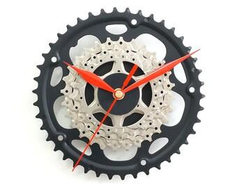 Wall Clock Bike Clock Bicycle Clock Cyclist Gift Wall Art Decor Handmade Gift Sprocket Clock Bike Parts Modern Metal Clock Cycling Decor