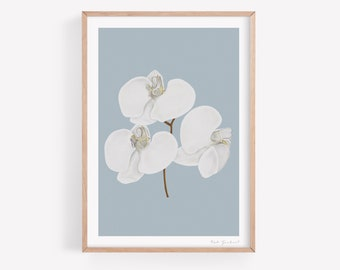 Orchid Flower Wall Art Print