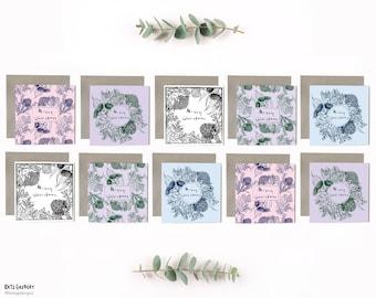 Australian Made Botanical Christmas Cards - 10 Pack