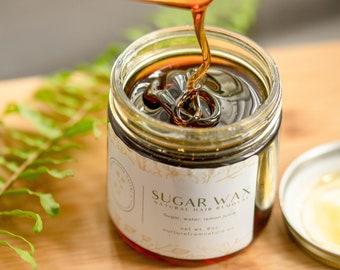 Vegan Sugar Wax - No strips No heat - Natural hair removal - Sugaring Paste - Face and Body - Brazilian Bikini - At home waxing
