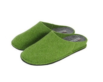 Men's slipper in solid wool cooked 100% Made in Italy