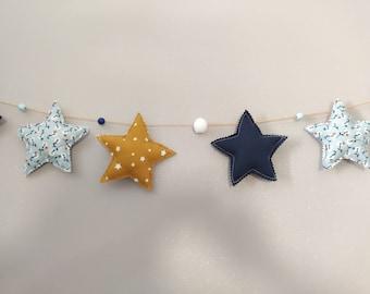Garland stars decoration baby room