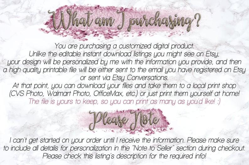 Personalized Bridal Shower Photo Frame Prop Printable DIY Floral Glitter Photo Booth Frame Engagement Party DIGITAL FILE Wedding Frame