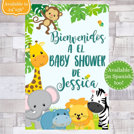 Baby Shower Safari Nino Decoracion.Digital File Safari Baby Shower Welcome Sign Boy Baby Shower Decor Jungle Baby Shower Baby Animals Sign Decoraciones Para Nino