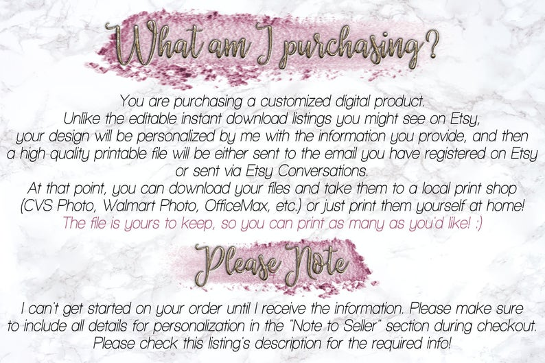 Bridal Shower Photo Frame Prop Printable DIY Floral Roses Pink Glitter Photo Booth Frame From Miss to Mrs Wedding Countdown DIGITAL FILE