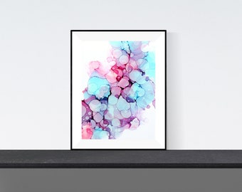 Prints of alcohol ink painting | Borrowed Beauty