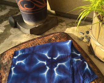 Japanese Indigo Dyed Cotton SHIBORI diaper