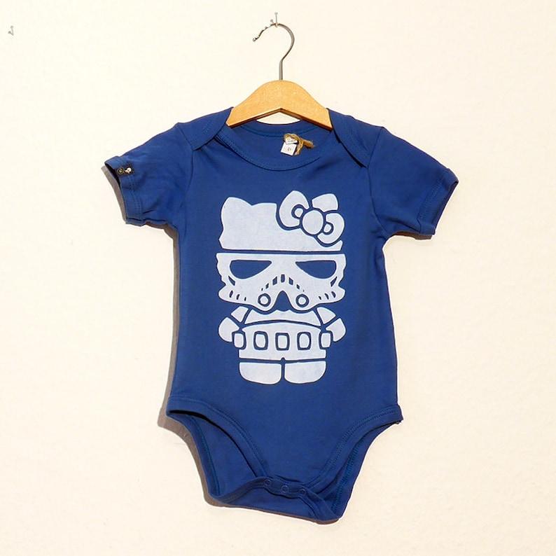 Hello Trooper Organic Cotton Baby Bodysuits