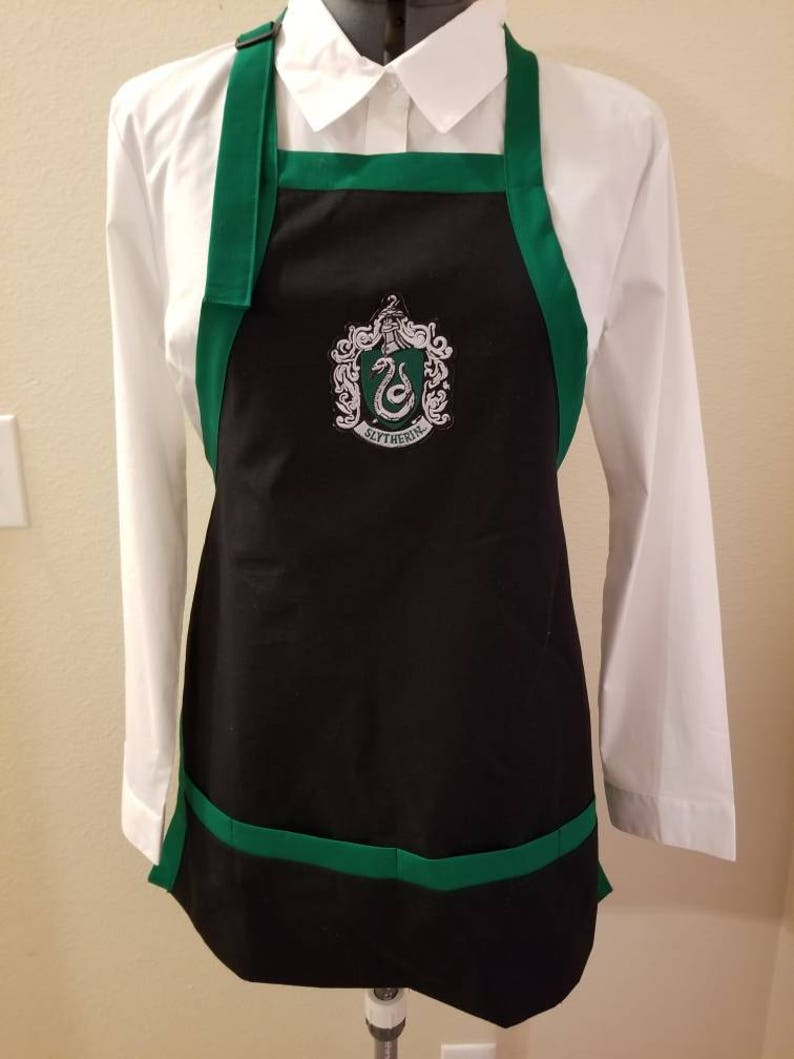 Apron with Harry Potter patch / Geeky apron / Gryffindor Slytherin