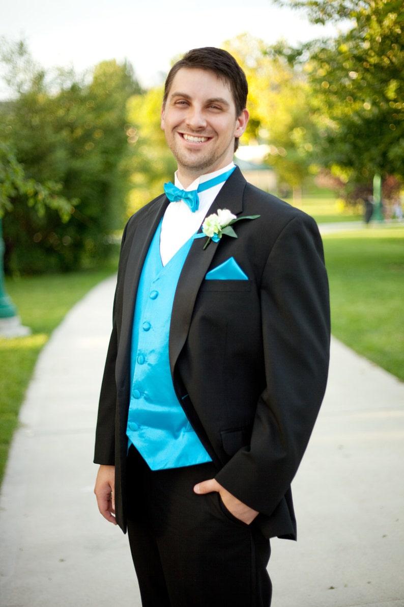 Custom Men's Vest Tie and Pocket Square / Made to Order image 0