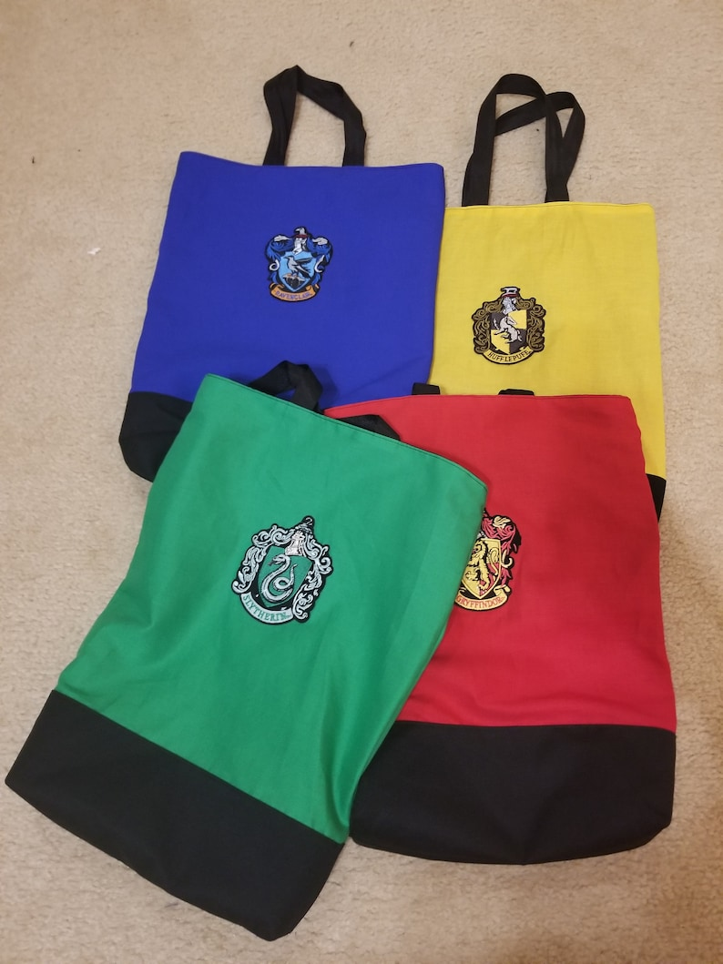 Reusable grocery bag with Harry Potter patch / Trick or treat image 0