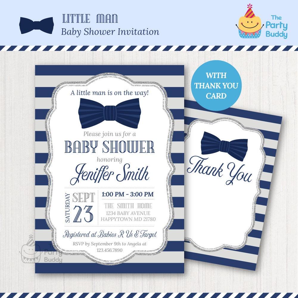 Lazo lazo poco hombre bebé ducha invitación Corbatín de | Etsy
