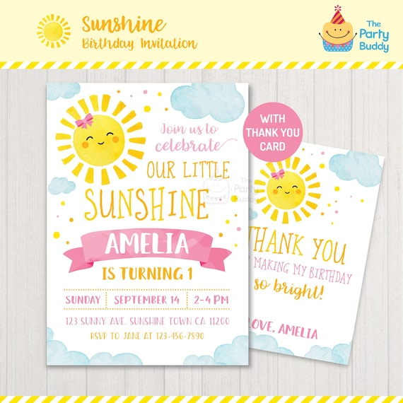 Sunshine Birthday Party Girl Favor Wrapper Printable INSTANT DOWNLOAD Sun Bottle Label