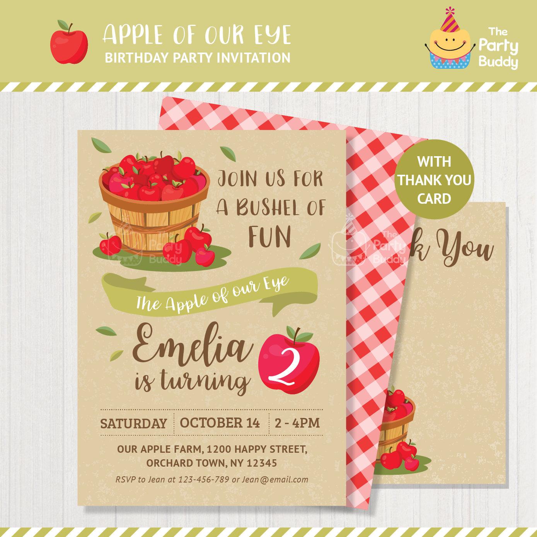 Apple Invitation Printable Fruit Orchard Farmers Market Fall Etsy Jpg 1389x1389 Farm