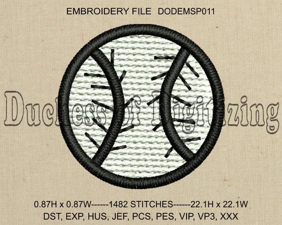Baseball Embroidery Design Baseball Embroidery File Baseball Etsy