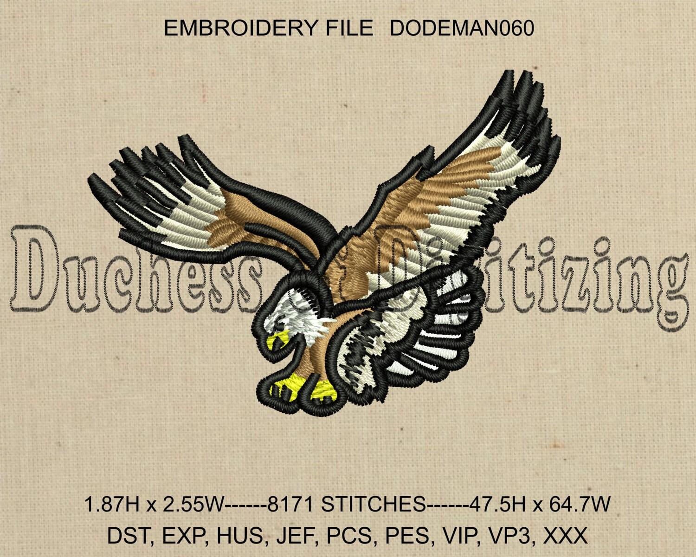 Bordados diseño de bordado pájaro águila bordado archivo | Etsy