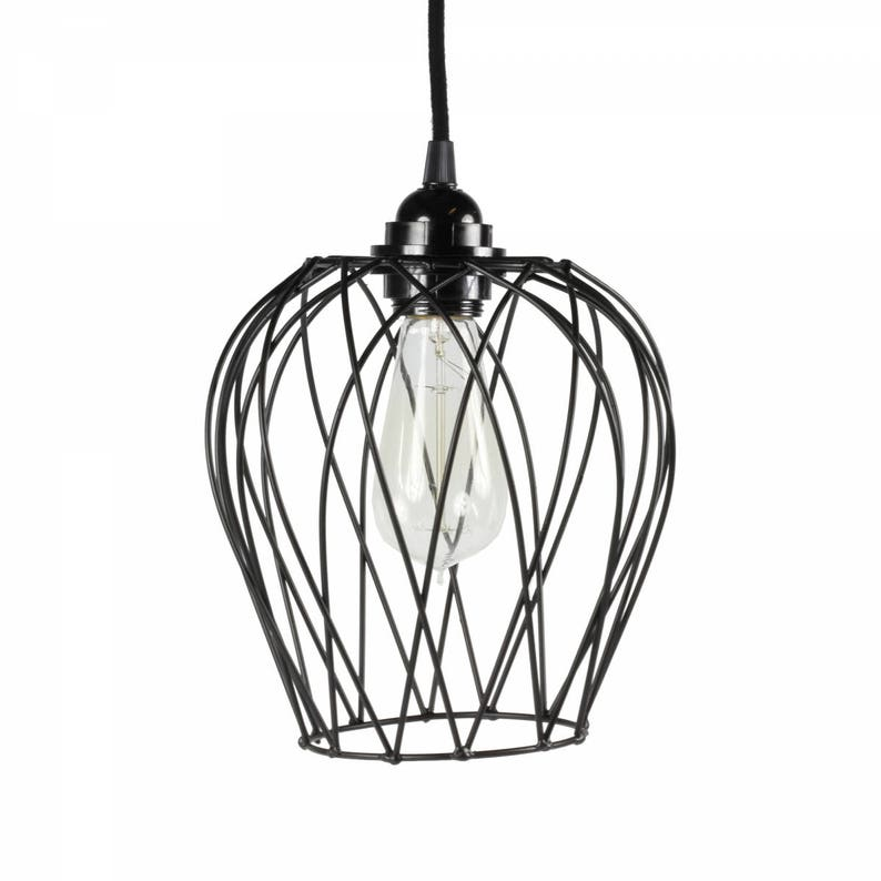 Hanging Lamp Wire Frame Black Limited Edition